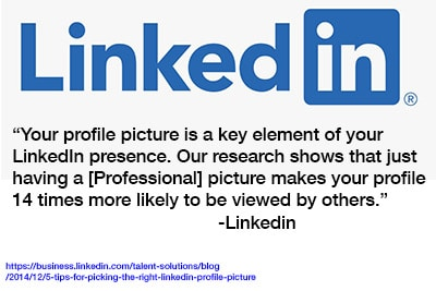 Linkedin statement about the importance of your profile photo