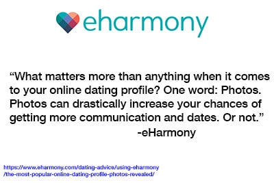 eHarmony knows that your profile photo will make or break your chances of success